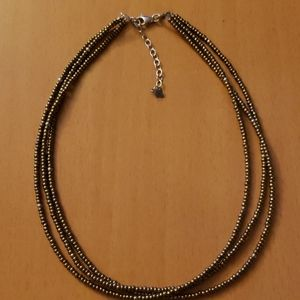 Silpada Gold & Silver Bead 3 Strand Necklace